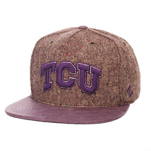Zephyr NCAA TCU Horned Frogs Adult Men Legend Heritage Collection Hat, Adjustable, (Tcu Horned Frogs Football)