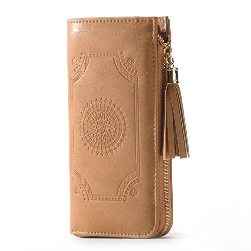 Women PU Leather Clutch PurseCard Holder Leather Clutch Wallet Multi Card Organizer by WOLTIX