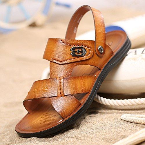 estate Il nuovo Uomini Spiaggia scarpa traspirante Uomini sandali fibra Uomini sandali Tempo libero Uomini scarpa ,giallo,US=8.5,UK=8,EU=42,CN=43
