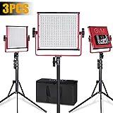 GVM LED Video Light 520 CRI97 + & TLCI 97+ 18500lux @ 20 inch Bi-Color 3200-5600K for Photography Video Lighting Studio Interview Portrait