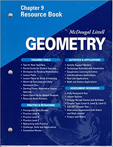 mcdougal geometry resource answers practice a and