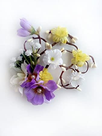 Amazon Lavender Bridal Flower Hair Accessories Wedding