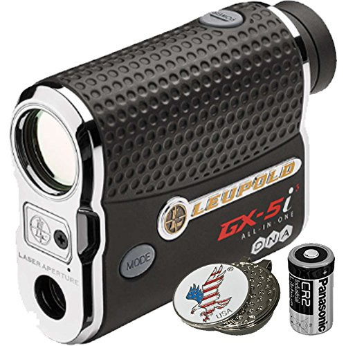Luepold Golf GX-5i3 Rangefinder + CR2 Battery + 1 Custom Ball Marker Clip Set (American Eagle) (Best Golf Rangefinder App For Android)