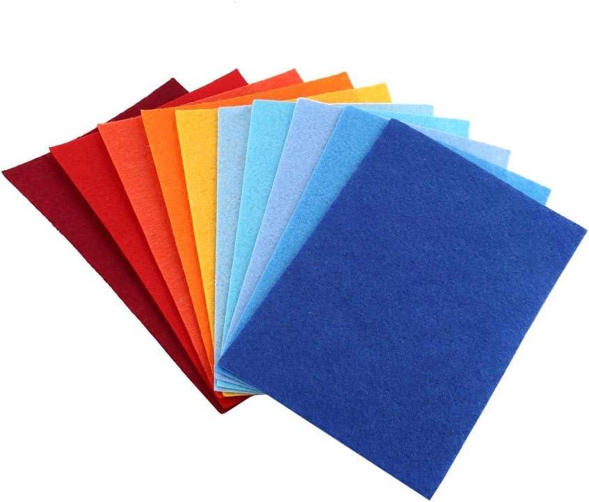 AUNMAS Hojas cuadradas de Tela 8 Piezas de Color Mixto Suave no Tejida Hojas de Tela de Fieltro DIY Costura mu/ñeca artesan/ía Cuadrados decoraci/ón para artesan/ía Patchwor