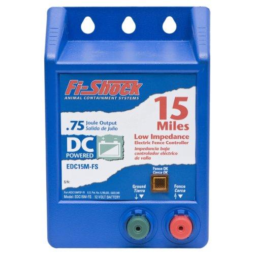 Fi-Shock EDC15M-FS Battery-Operated Fence Energizer, 15-Mile (Wire Fi Aluminum Shock)