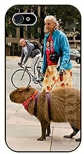 iPhone 5C Old lady. Not a dog walk - black plastic case / dog, animals, dogs