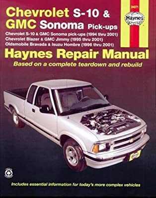 2001 chevy s10 repair manual