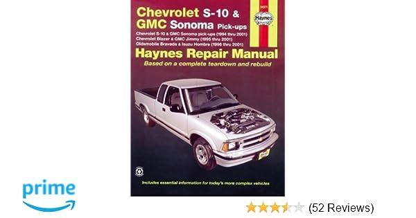 chevrolet s 10 gmc sonoma pick ups haynes repair manual max rh amazon com Chevrolet S10 Pickup Truck Problems 2003 Chevrolet S10 Pick Up