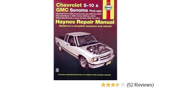 chevrolet s 10 gmc sonoma pick ups haynes repair manual max rh amazon com