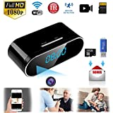 Hidden Camera Spy Camera WiFi Hidden Video Recorder Real time HD 1080P Wireless Hidden Nanny cams Clock Night Vision Motion Detection Free 16GB Micro card Hidden security camera for Home,Office, Kids,