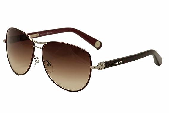 14308cf68 Marc Jacobs Sunglasses Women's Aviator Sunglasses, Burgundy/Brown Gradient,  One Size