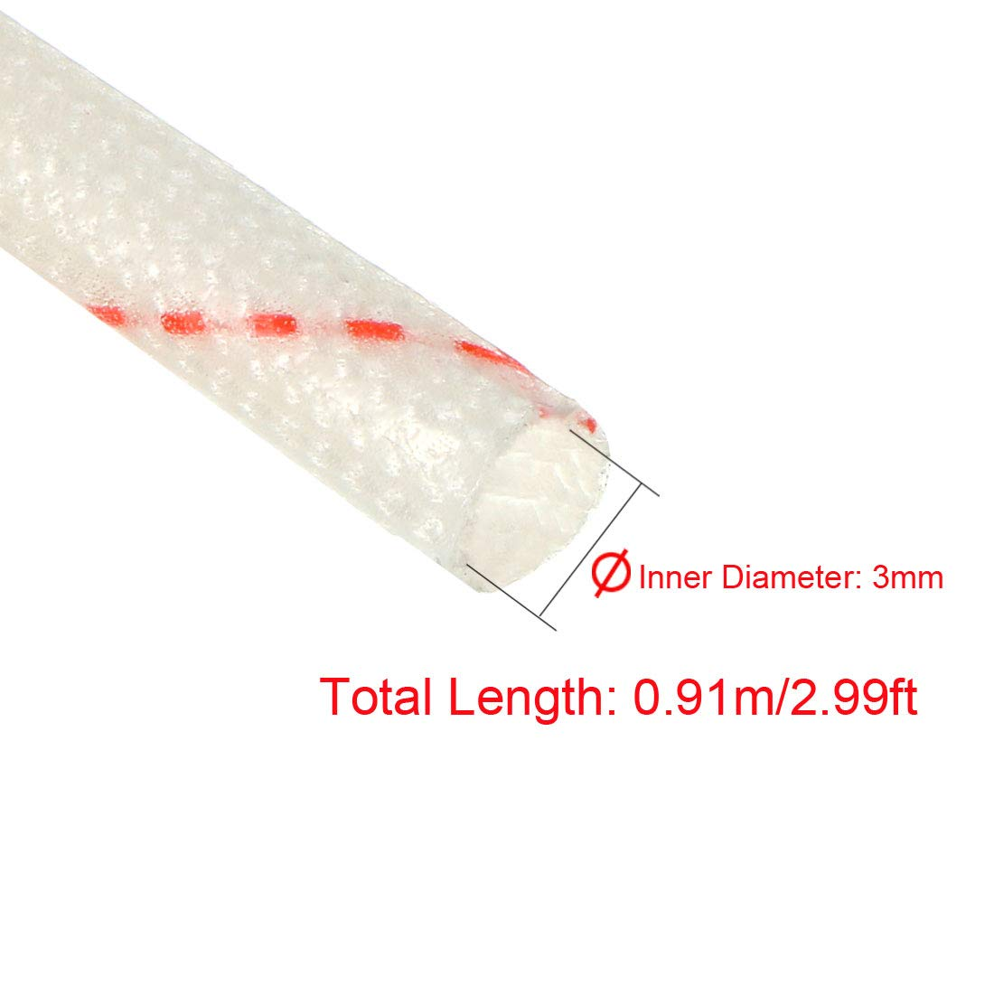 PVC Insulation Tubing 1500V Tube Adjustable Sleeving Pipe 125 Degree Centigrade Cable Wrap Wire 880mm 2.89ft 5pcs uxcell Fiberglass Sleeve 12mm I.D