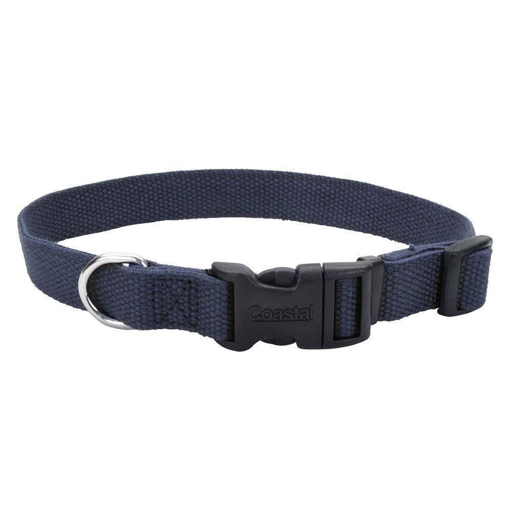 New Earth Soy Dog Collar 12-18In x 3 4In Indigo
