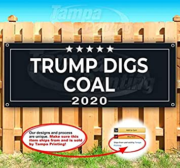 New Trump Keep America Great 2020 13 oz Heavy Duty Vinyl Banner Sign with Metal Grommets Store Many Sizes Available Flag, Advertising