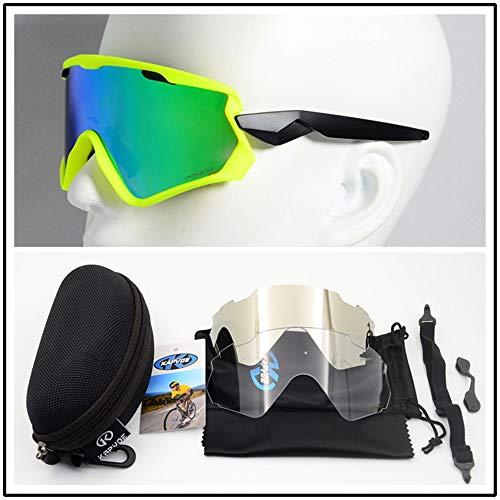 HUIGE Polarised Sports Mens Sunglasses for Ski Driving Golf Running Cycling Superlight Frame,1