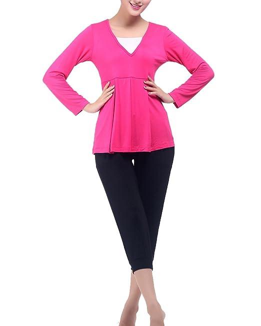 Gladiolus Conjuntos Yoga Deportiva Mujer Camisetas Yoga Fitness Y Pantalones Deportivos Fitness RoseHL 3XL