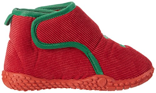 Playshoes Hausschuh Dino - Zapatilla de estar por casa Unisex Niños Rojo - rojo 8