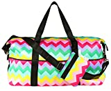 Candy Pink Duffel Bag (One_Size, Chevron)