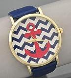 Navy Anchor Chevron Watch