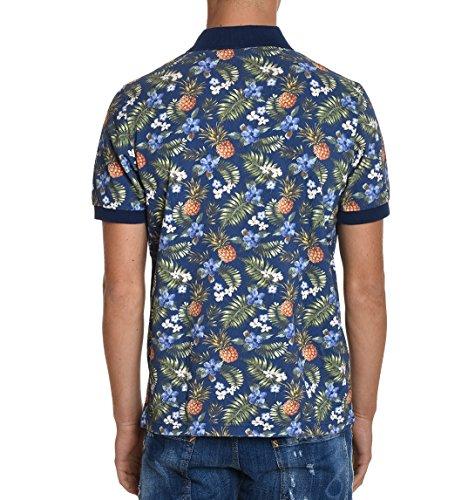 Altea Herren 17550501 Blau Baumwolle Poloshirt