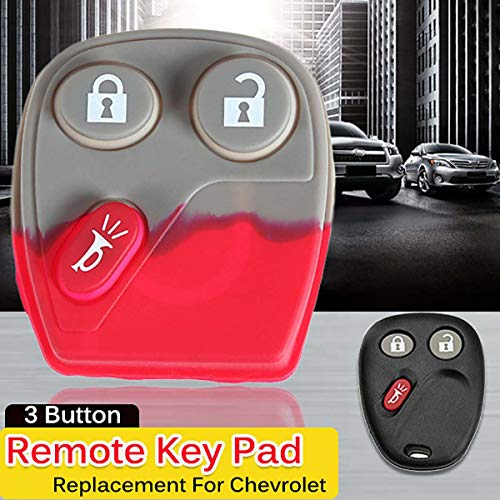 Star-Trade-Inc - 3 Button Replacement Pad Remote Key Keyless Entry Fob Case for Chevrolet Avalanche 1500 2003-2006