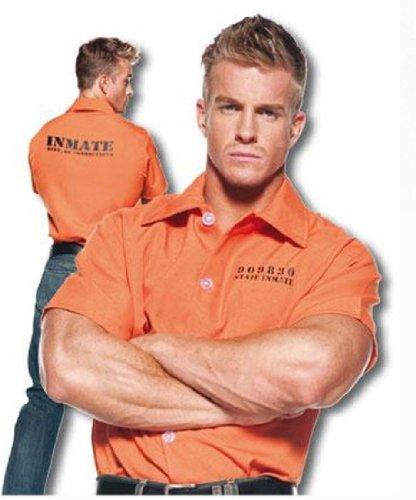Underwraps Men's Prisoner Shirt,Orange,One (Cop And Prisoner)