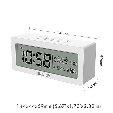 BIlinli Reloj Despertador LED Relojes de Mesa Digitales Reloj del ...