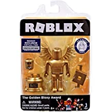 Roblox Gold Collection The Golden Bloxy Award Single Figure Pack with Exclusive Virtual Item Code