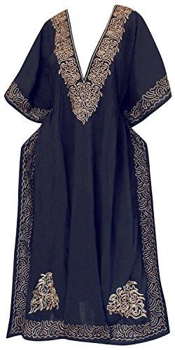 abito del spiaggia donne costumi costume sera coprire lunga Designer da da delle l458 LA LEELA da kimono rayon Navy kaftan bagno Blu bagno wFqIaa