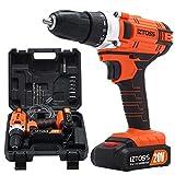IZTOSS Cordless Drill Set 20V MAX Lithium 2 Batteries Drill Driver For Sale