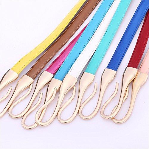 SAIBANGZI Ms Women All Seasons Hook Belt Fine Decorative Leather Women'S Belts Girlfriend Present O 100Cm by SAIBANGZI (Image #1)