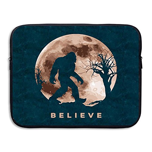 Funny Bigfoot Sasquatch Full Moon.PNG Soft Water-proof Neoprene Carrying Case Sleeve Bag For Laptop 15 Inch