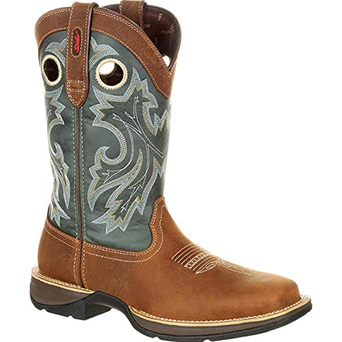 Durango Men's Rebel Pull-On Western Boot Mid Calf, Saddlehorn and Clover, 10.5 W US