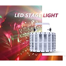 Gledto 9 LEDs DMX512 Color Changing Voice-activated 9 Channel LED Projector PAR Light DJ Stage Effect Lighting Show for Disco Party Club Dancing Disco Hall Home KTV Concert Celebration (with Remote Control )