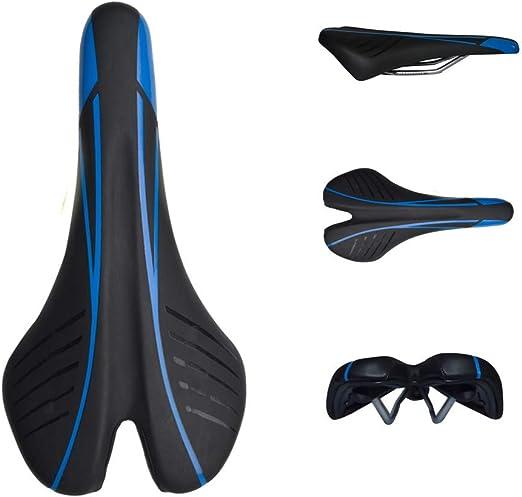 ZXASDC Sillín de Bicicleta, Negro Azul Sillines de Bicicleta de ...