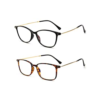 4386c4a471e Image Unavailable. Image not available for. Color  2 Pairs Rimless Reading  Glasses Spring Hinged ...
