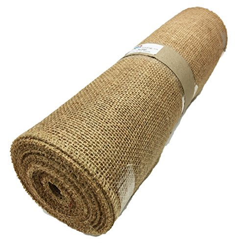 (AK TRADING Burlap Table Runner Roll, No Fray Edges, Makes 3-5 DIY Runners in 5 Minutes, Premium High Density Fabric, Natural Color)