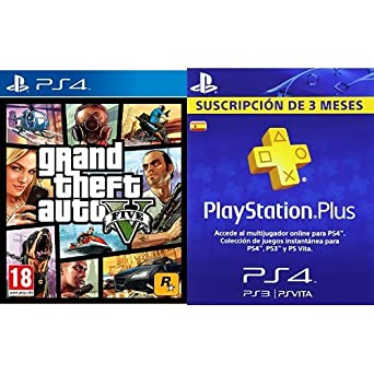 Grand Theft Auto V Gta V Playstation Plus Tarjeta De