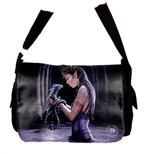 NEW ANNE STOKES FANTASY DRAGON MEDIEVAL ART, MESSENGER BAG **YOUR CHOICE OF ART** BY ACK (WATER DRAGON)