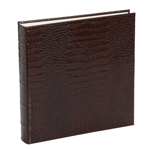 Large Crocodile Genuine Italian Leather Bound Album,100 Pages, Photo Squares Included, 13-1/8'' x 13'' by Graphic Image