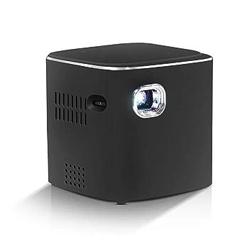 FOWYJ Proyector, portátil Mini hogar HD Teléfono móvil WiFi ...