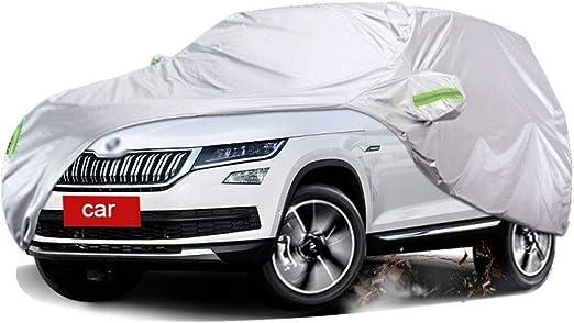 Fundas para coche Compatible con Skoda Karoq Funda Protectora Exterior Para Cubierta Del Autom/óvil Protecci/ón UV A Prueba De Viento Transpirable Resistente Al Polvo Impermeable Todo Clima Cubierta Par