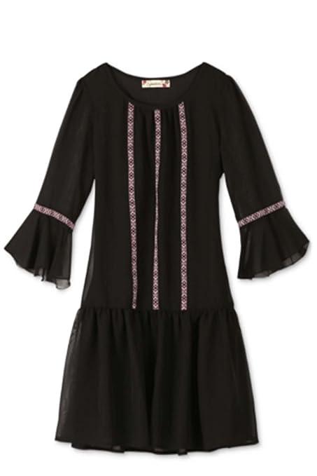 1920s Children Fashions: Girls, Boys, Baby Costumes Speechless Girls Bell-Sleeve Drop-Waist Dress $56.00 AT vintagedancer.com