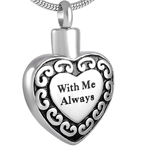 Casket Etcetera with Me Always Memorial Jewelry Urn Necklace Pendant