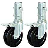 CBM Scaffold 2PCS Heavy-Duty 5'' for 6 ft. Baker Scaffold Wheel Hard Rubber Locking Caster