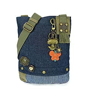 Chala Patch Cross-Body Women Handbag, Canvas Messenger Bag