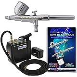 Master Airbrush MAS KIT-VC16-B22 Portable Mini Airbrush Air Compressor Kit