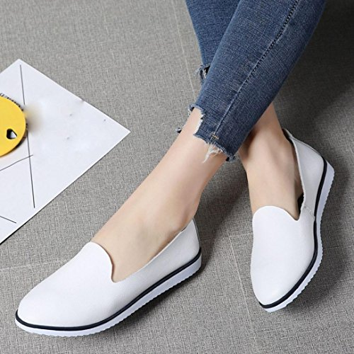 Neartime Promotion❤️Women Shoes, 2018 Fashion Flats Leather Shoes Shallow Slip On Leisure Lazy Comfortable Sandals by Neartime Sandals (Image #1)