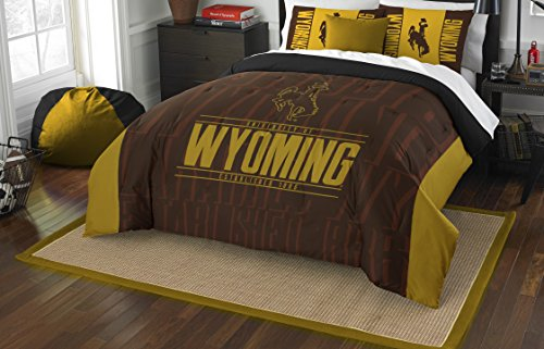 The Northwest Company Officially Licensed NCAA Wyoming Cowboys Modern Take Full/Queen Comforter and 2 Sham (Cowboys Ncaa Comforter)