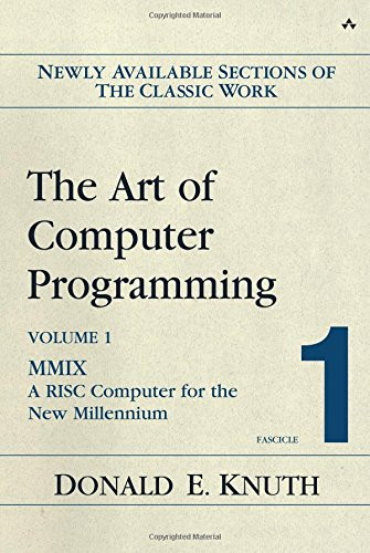 Pdf Computers The Art of Computer Programming, Volume 1, Fascicle 1: MMIX -- A RISC Computer for the New Millennium